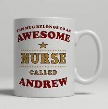 Personalised nurse carer hospital student gift mug birthday christmas idea