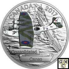 2017 $20SILVER.9999–AIRCRAFT OF SECOND WORLD WAR SERIES:CONSOLIDATE CANSO(18057)