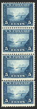 #399 5c Blue 1913 VF Pan Pacific Expo Mint Vertical Strip of 4
