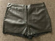 Black Faux Leather Shorts Size S