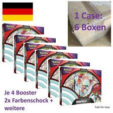 Pokemon 6x Maritellit V Box Deutsch - Case - Booster Farbenschock etc. - NEU💎