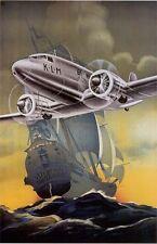 """Vintage KLM """"Flying Dutchman"""" Travel Poster No. 2"""