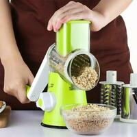Multi function Drum Rotary Grater Manual Cheese Vegetable Slicer Cutter Chopper