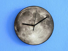 Gray Moon (Full Moon) - Wall Clock