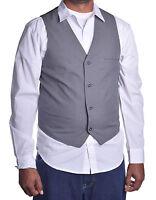 Alfani Mens Dress Sleeveless Slim Fit Plaid Grey Vest Jacket