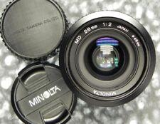 Minolta MD 28mm f2  #1102218 .............. Minty