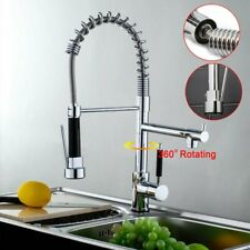 New Chrome Kitchen Sink Mixer Tap Pull Out Double Swivel Spout Basin Faucet WELS