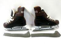 Vintage CCM Good Sports Kids/Boys Hockey Ice Skates Size 6 1/2 w/Blade Covers