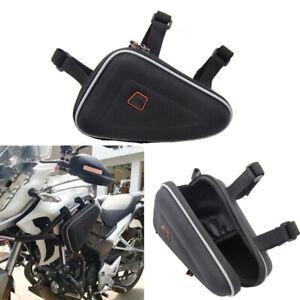 Universal Black Motorcycle Saddlebag Engine Guard Storage Pouch For HONDA CB190R