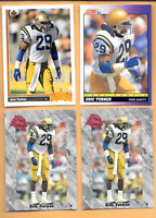 1991 SCORE #584 ERIC TURNER Rookie & 3 E. TURNER RC. CLEV. BROWNS FOOTBALL CARDS