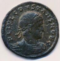 ROMAN EMPIRE coin Nummus emperor Constans I AD 335 Antioch mint RIC#89 VF