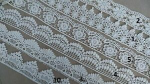 Vintage Cotton CREAM/WHITE Crochet Lace Trim Ribbon cake decoration wedding NEW