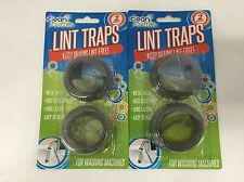 Metal Mesh Lint Traps For Washing Machines 2 Pack Lot of 3 (NEW)