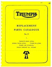 Triumph Parts Manual Book 1964 Tiger 100 T100 S/S