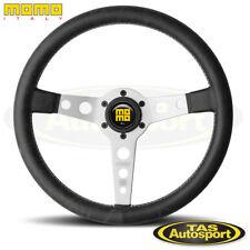 MOMO HERITAGE PROTOTIPO SILVER Spoke Leather Steering wheel 350mm