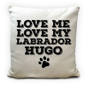 Personalised Dog Breed Pet Name Cushion Pillow Cover Love My Dog 16 inches
