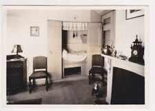 RPPC Bedstee Cupboard bed & other furniture in room Holland Netherlands Postcard