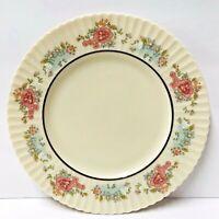 "Lenox SACHET China pattern Salad Plate 8.5"" Ivory w Flowers Platinum Band Set 3"