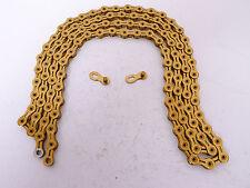 mr-ride KMC X11SL Ti-N Gold 11 Speed Chain 112 Links w/ Missing Link
