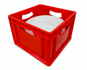 25 Litre Stackable Storage Box (360x360x250mm) For Plates and School Equipment