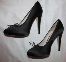 HOSS INTROPIA satin hidden platform bow sexy pumps shoes 38 8 M worn once
