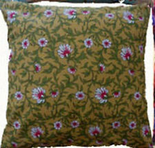 Cushion Cover vintage brown floral Cotton Home Sofa pillow envelope back 16""