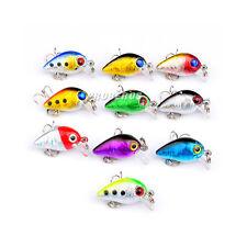 New 5pcs/lot Crank Bait Bass Fishing Lures 2.6cm/1.5g Plastic Crankbaits Tackle