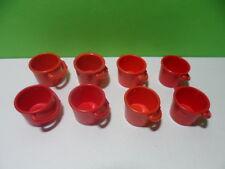 PLAYMOBIL – Lot de 8 sceaux rouges / Bucket / 4055 4082 4179 4187 4318 4468