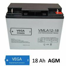 12V 18Ah C20 AGM Glasvlies Blei Batterie Akku - VMLA12-18 Vega Power - UL94 HB