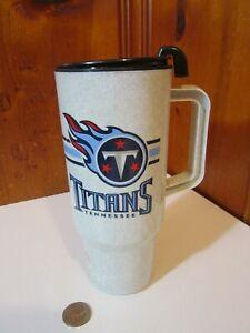 Tennessee Titans Football Logo NFL 16oz Plastic Travel Coffee Mug EUC