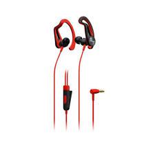 Auricular Deportivo auriculares Pioneer See5tr rojo clip