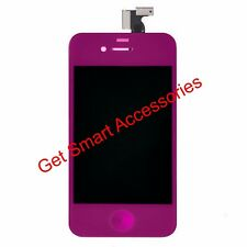 PURPLE  iPhone 4S LCD DISPLAY SCREEN + DIGITIZER ASSEMBLY REPLACEMENT