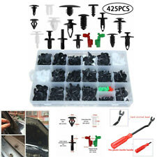 "425x Mixed Car Bumper Retainer Rivet Fender Liner Fastener Clips+8"" Removal Tool"