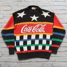 Vintage 80s Coca Cola Knit Sweater Size S
