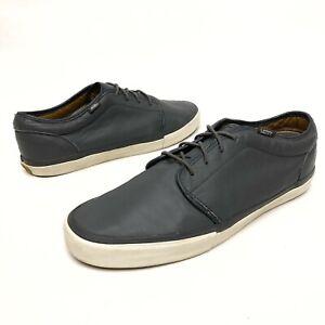 ✅💟✅ Vans Vault Men's Authentic Laced Gray Leather Skate Shoes Sz 13 Oxfords EUC