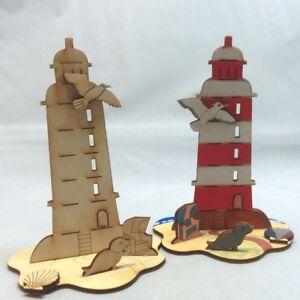 Geschenk, Kreativ Set für Kinder, Leuchturm, zum Kindergeburtstag, malen basteln