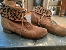All Saints military Brown Studded  Boots, 5