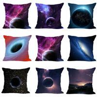 18'Inch Universe Galaxy Cotton Linen Pillow Case Cover Sofa Cushion Cover