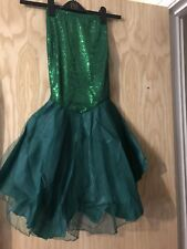 Ariel Little Mermaid Fancy Dress Childrens/Kids, Skirt, Sequin Green Age 2-3 Yrs