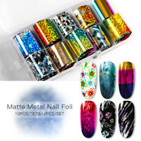 Holographic Starry Sky Nail Foil Manicure Nail Art Transfer Sticker Tips Set DIY