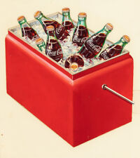 Vintage Cooler Coca-Cola advertisement Replica Photo Print 14 x 11""