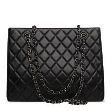 Korea Lambskin Handbag Genuine Sheepskin Leather Women Shoulder Bag Purse black