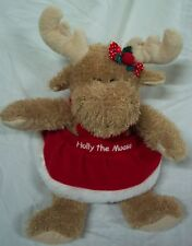 "Tanger Outlets HOLLY THE MOOSE IN RED DRESS 13"" Plush Stuffed Animal Christmas"