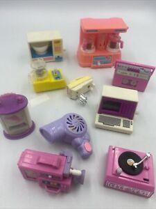 HUGE Lot Barbie Wind Up Accessories Computer Stereo Blender Clock Camcorder ++!!