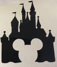X6 Mickey Castle Stencil Glass Craft Etched Vinyl Sticker Silhouette Disney