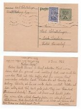 1922 AUSTRIA Cover WIEN To BAD GASTEIN Stationery Postcard UPRATED SG467
