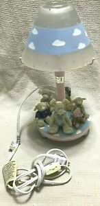 Baby Night Light - Blue with Cute Circle of Animal Friends NEW Electric (B51)
