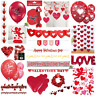 🥰💗VALENTINES DAY DECORATIONS🌹Banner Bunting Heart Love Confetti Balloons💗🥰