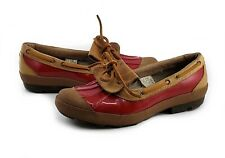 UGG Australia Ashdale Duck Shoes Red Patent Leather Size 9 M