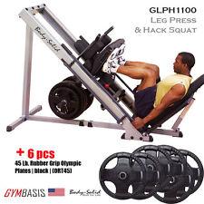 NEW 2017 Body Solid GLPH1100 Leg Press / Hack Squat + 270 lb. weight plates